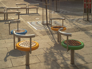 Bespoke Benches & Spinning Seats: Henry Moore Square, Castleford