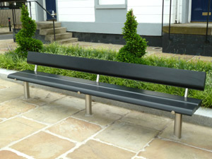 3m Basic Seat With Black Ash Timber: Coronation Gardens, Wakefield