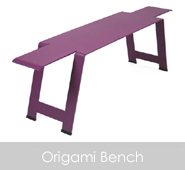 Origami Backless Bench