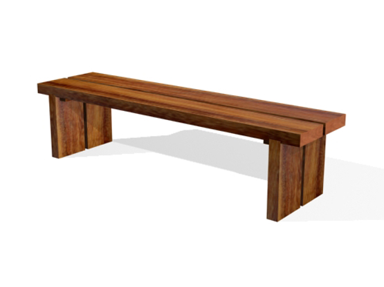 Backless Woodrow Bench