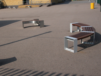 Hello Stranger & Bookend Curved Benches
