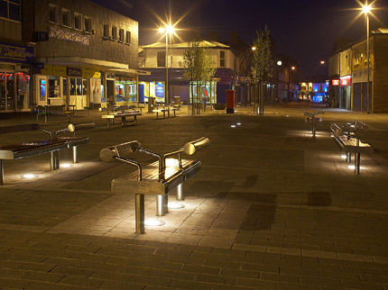 Bespoke Moveable City Benches