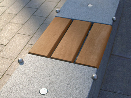 Inset Benches On Granite