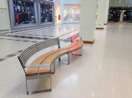 Clarendon 'S' Bench, Waterside Shopping Centre