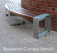Bookend Curved Bench