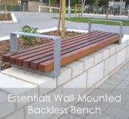 Essentials Wall-Mounted Bench