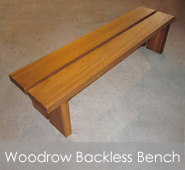 Woodrow Backless Bench